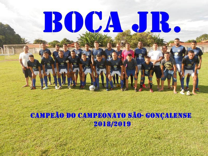 Boca Jr. é campeão do campeonato são-gonçalense
