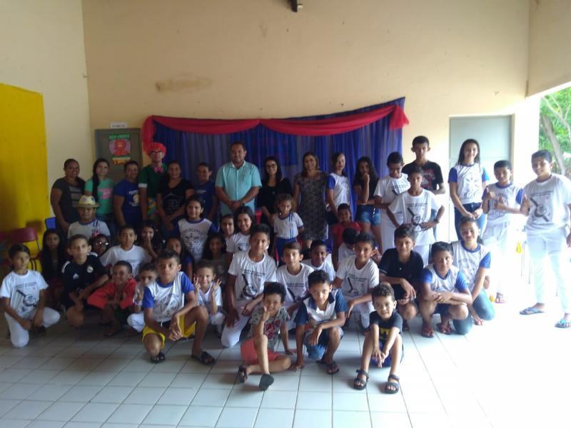 Prefeitura de Pau D'arco do PI realiza acolhida de crianças do SCFV