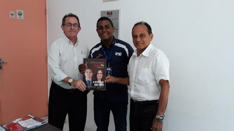 Dr. Angelo, David Pacheco e Dr.Mesquita, da esquerda para a direita.