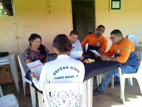 Defesa Civil realiza ação educativa em comunidade rural de Campo Maior