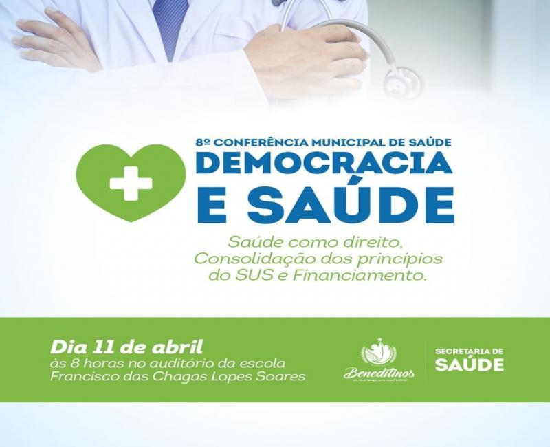 8ª Conferencia Municipal de Saúde será realizada no dia 11