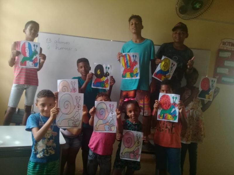 SCFV de Landri Sales realiza atividades com crianças e idosos
