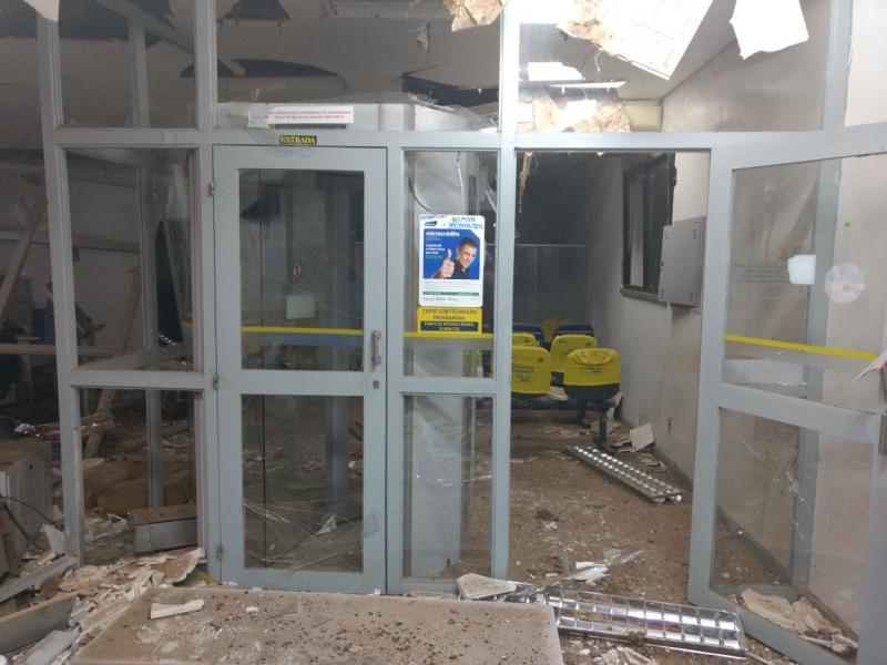 Grupo fortemente armado explode Banco do Brasil, arromba Correios e lotérica no Piauí