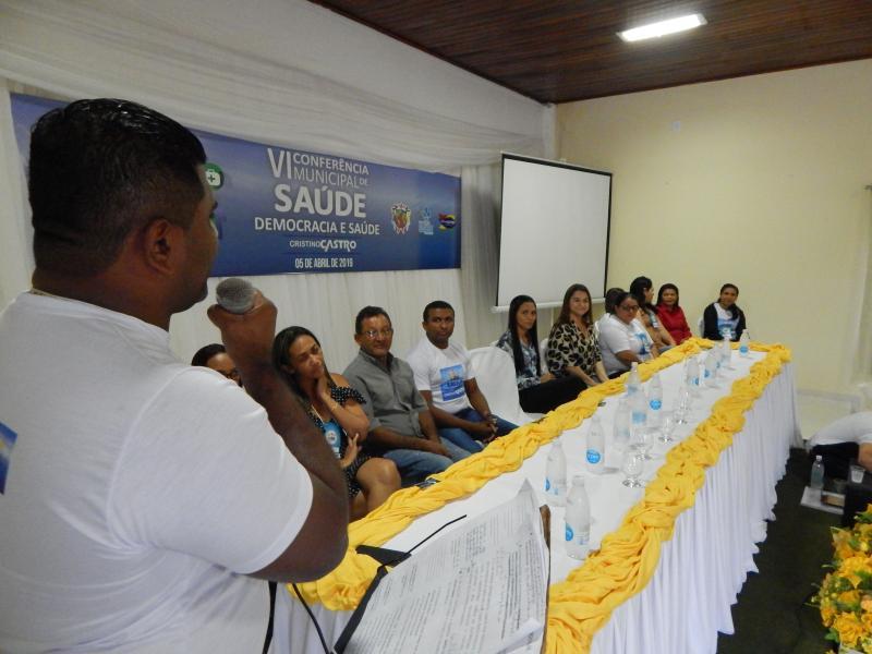 VI Conferência Municipal de Saúde e realizada em Cristino Castro