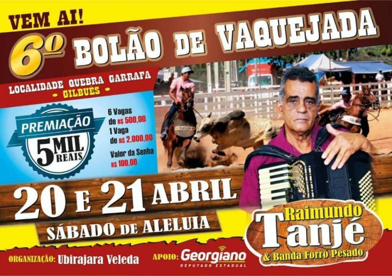 Vem Aí 6ª Bolão de Vaquejada na localidade Quebra Garrafa