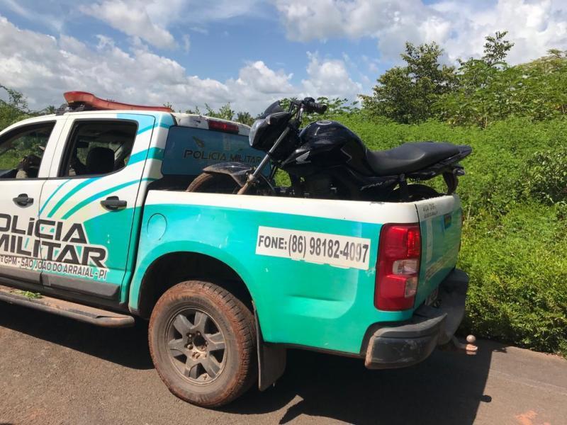 PM recupera três motocicletas usadas em assalto a comércio