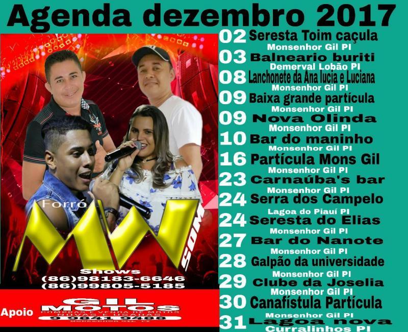 Banda 'Forró MW Som' em Demerval Lobão (PI), dia 03, domingo no Balneário Buriti