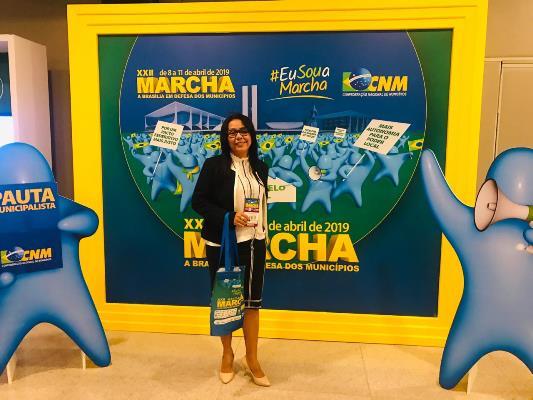 Prefeita Doquinha presente na XXII Marcha dos Prefeitos em Brasília