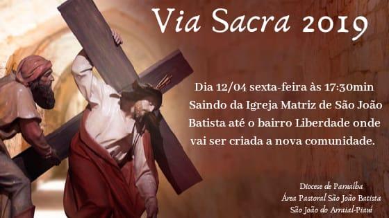 Igreja realizará a Via Sacra nessa sexta-feira (12) em São João do Arraial