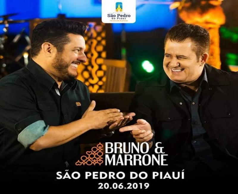 Prefeitura de São Pedro do Piauí anuncia show da dupla Bruno e Marrone