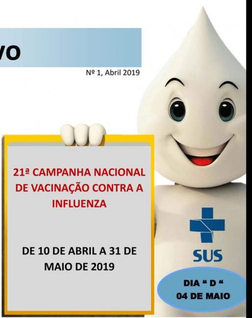 SMS de Olho D'água dá início a campanha contra a gripe
