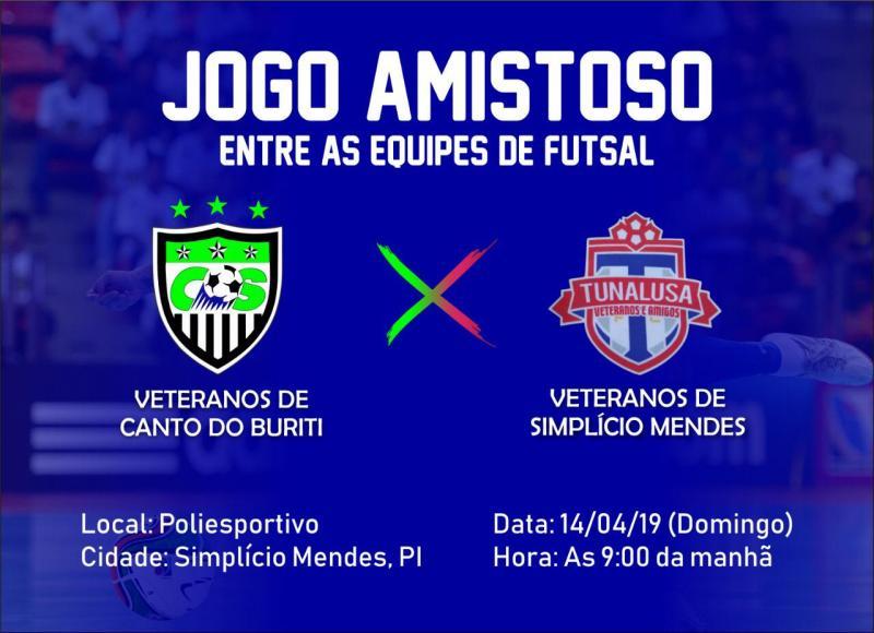 Grande partida de FUTSAL será realizada neste domingo em Simplício Mendes