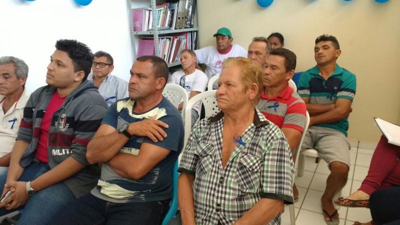 Secretaria Municipal de Saúde de Olho D'água na campanha Novembro Azul