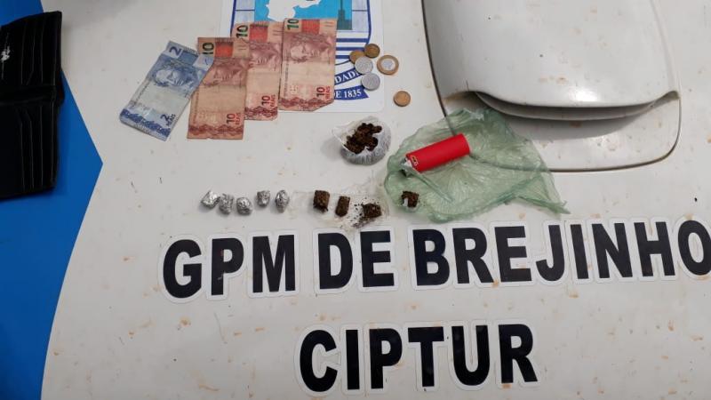 Suspeitos são presos com droga no Brejinho