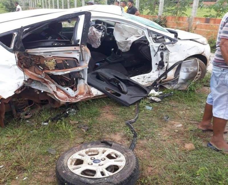 Professor morre em grave acidente na PI-113