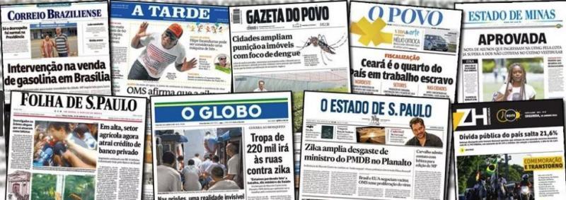 Veja quais são as notícias de destaque nos matutinos brasileiros no Domingão
