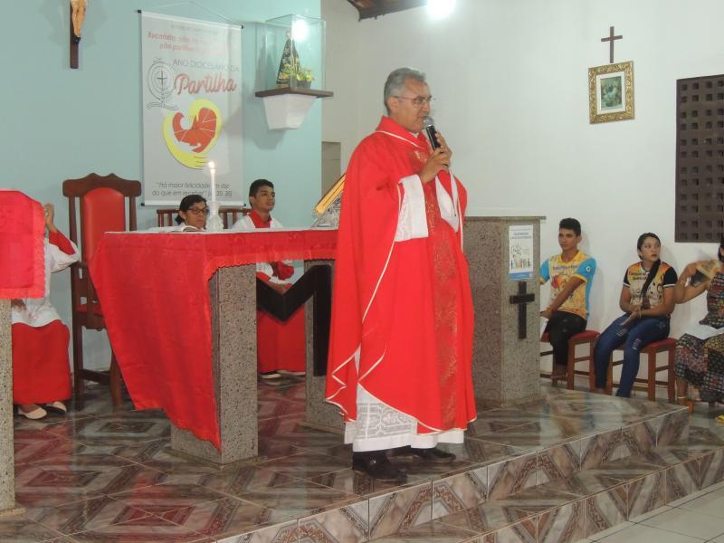 Missa de Ramos na Capela de N. Sra. Aparecida em Malhada de Areia