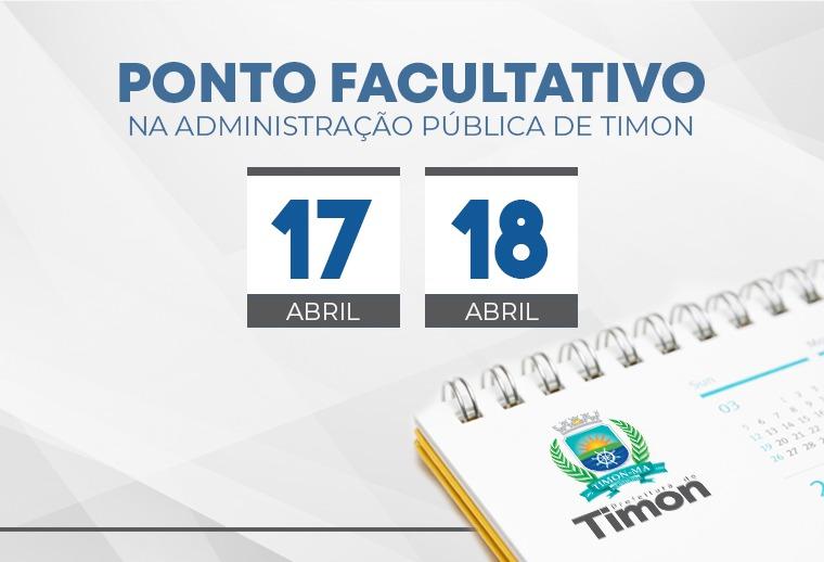 Ponto Facultativo na Administração Pública de Timon