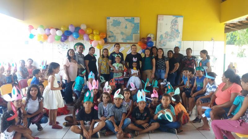 Secretaria de Educação realiza evento  com alunos em comemoração a pascoa