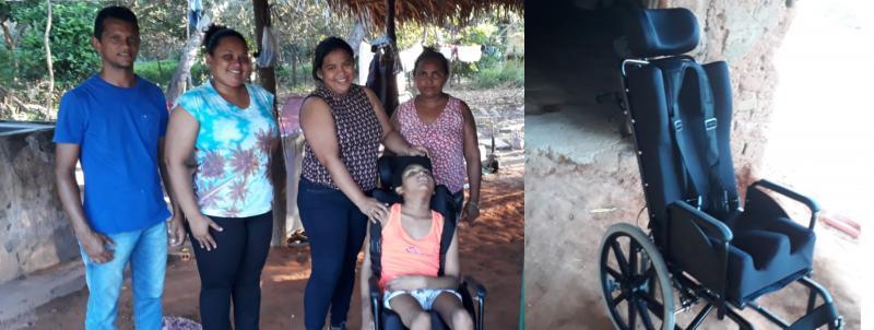 SMS de Landri Sales realiza entrega de cadeiras de rodas e de banho