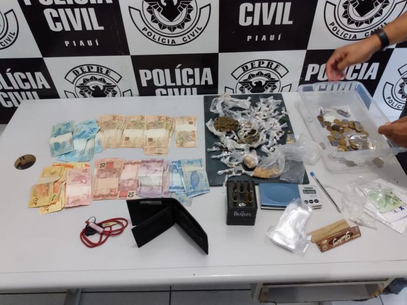 Polícia desarticula ponto de venda de drogas em Teresina