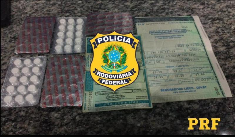 Motorista é flagrado com droga para inibir o sono na BR-316