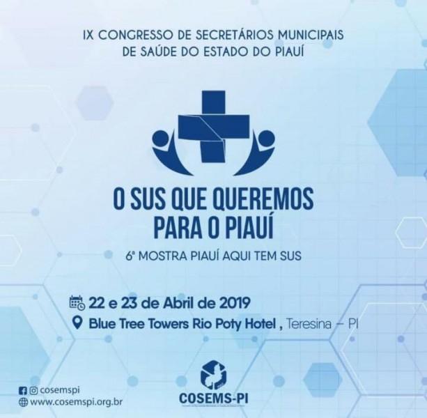 Saúde participará do IX Congresso de Secretários Municipais de Saúde do PI