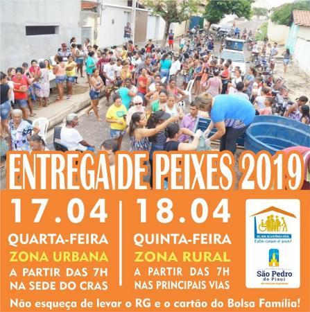 Assistência Social distribui peixes em São Pedro do Piauí