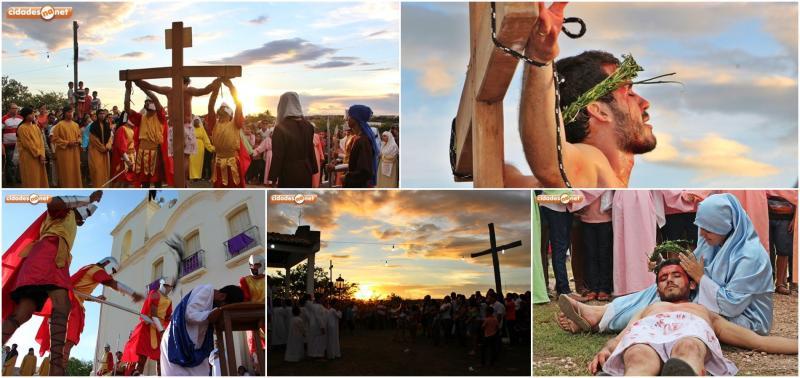 Via-Sacra encenada pela Pastoral da Juventude emociona fiéis