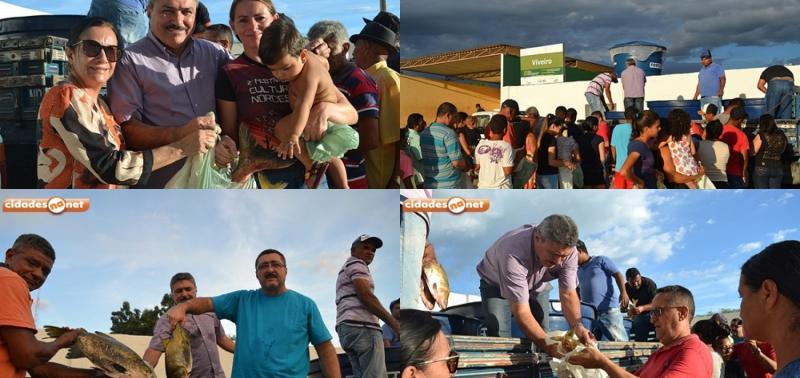 Prefeitura faz distribuição de 3 mil kg de peixe e beneficia famílias