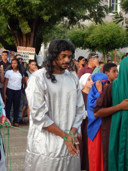 Paróquia de São Benedito realiza encenação a Paixão de Cristo