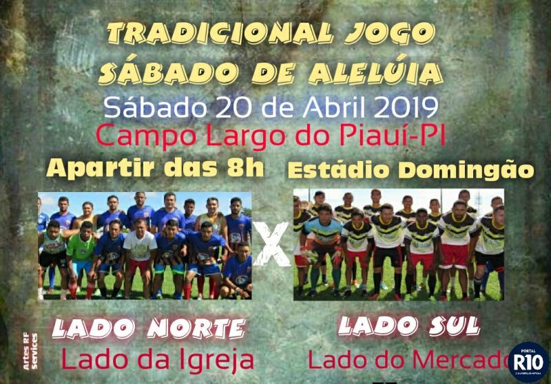 Norte X Sul | Jogo tradicional de Sábado de Alelúia, amanhã (20)
