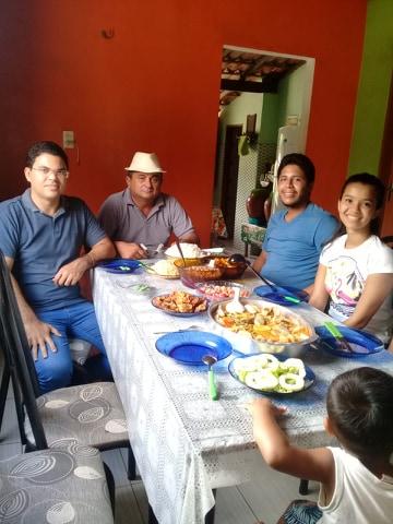 Raphael Silva,Pré candidato a prefeito de Luis Correia visita Povoados