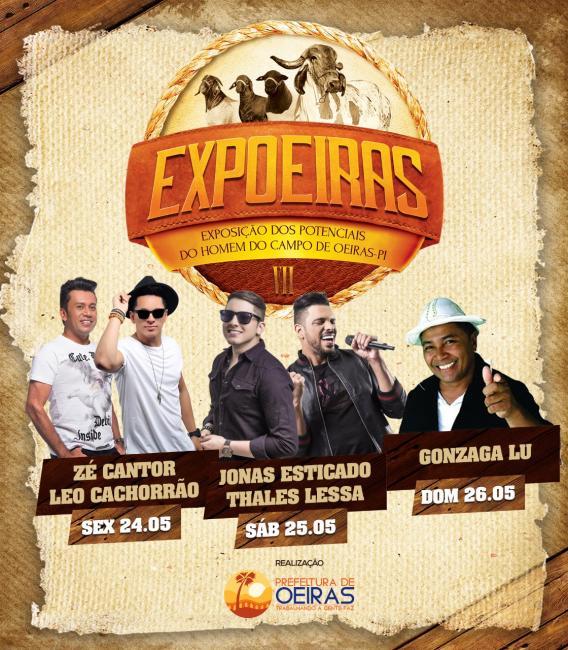 Prefeitura divulga atrações musicais da 7ª Expoeiras