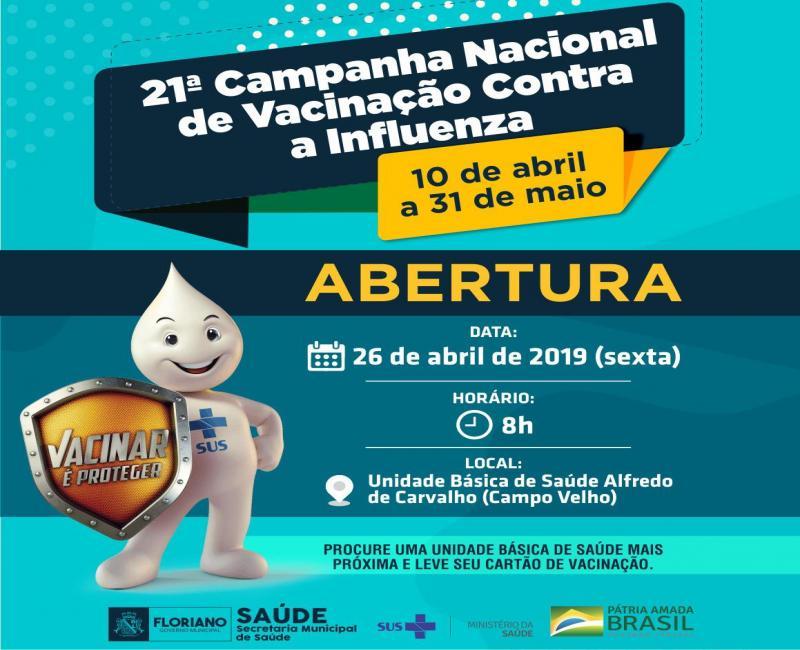 Abertura da Campanha de Vacinação em Floriano ocorrerá na sexta (26)