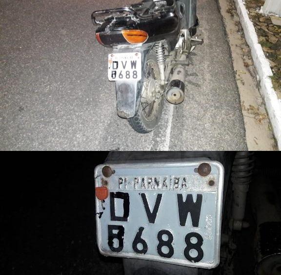 Dupla é abordada pela PM com moto roubada no Piauí