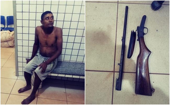Homem é preso após tentar matar três pessoas em Corrente