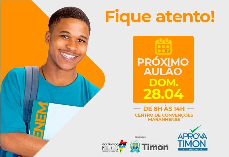 Aulão do Aprova Timon acontecerá no próximo domingo (28)