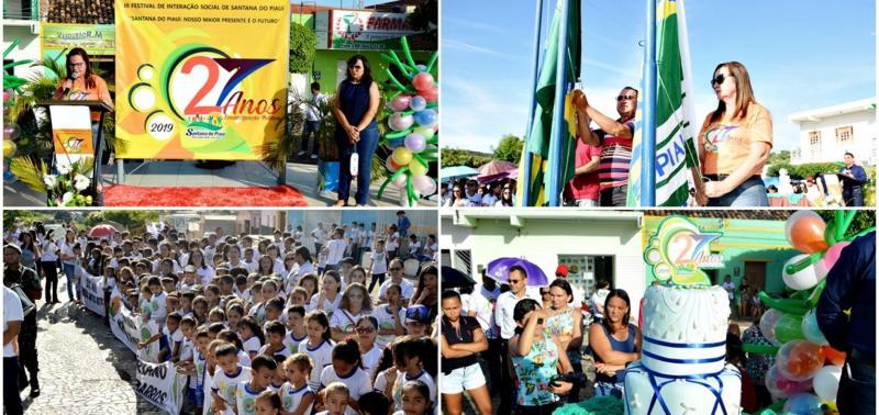 Ato Cívico abre festividades do aniversário de Santana do PI