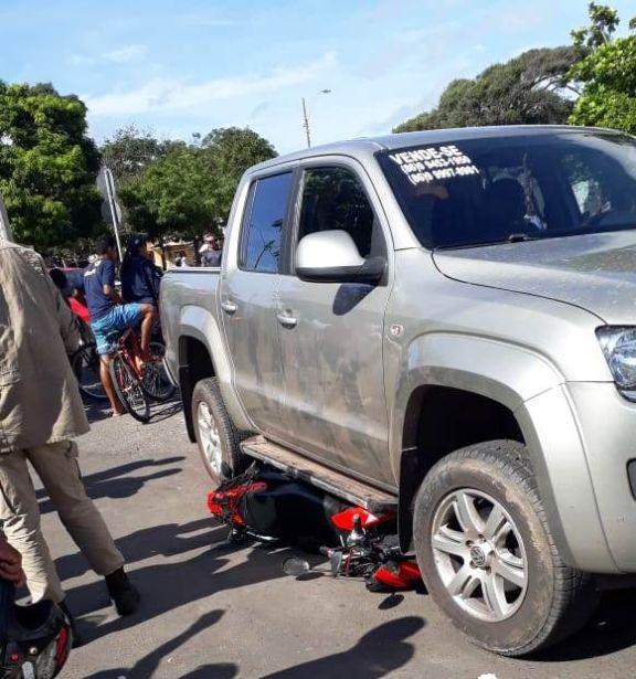 Mototaxista sofre acidente com passageiro em Parnaíba