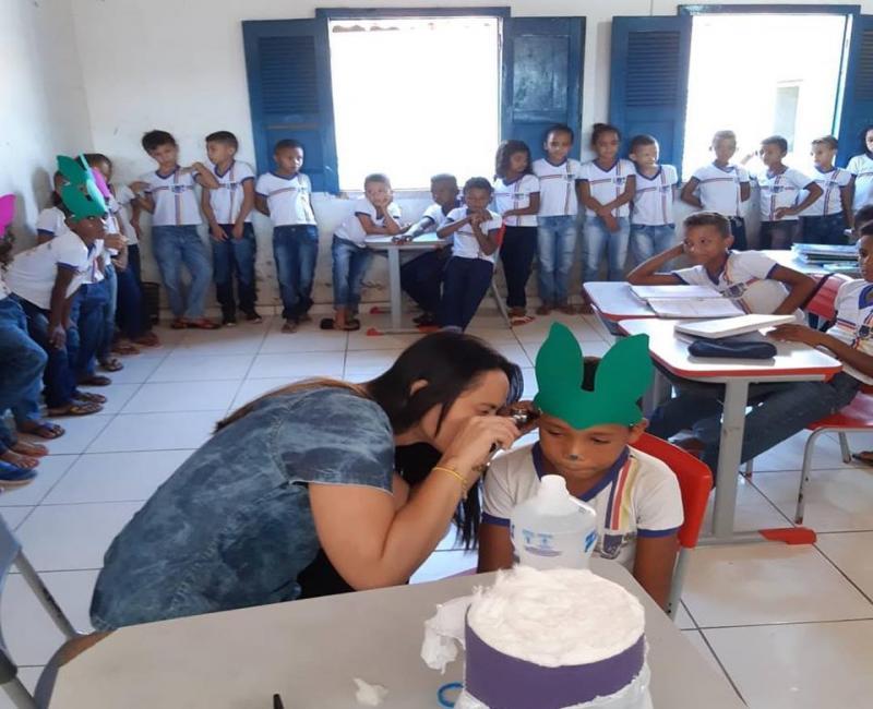 Nasf realiza atividade sobre 'Saúde Auditiva na Escola'
