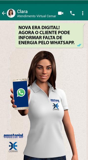 Falta de energia poderá ser informada por WhatsApp