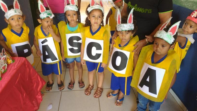 SEMEC de Olho D'água realiza socialização do projeto Páscoa