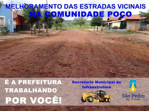 Secretaria de Infraestrutura recupera estradas na localidade Poço