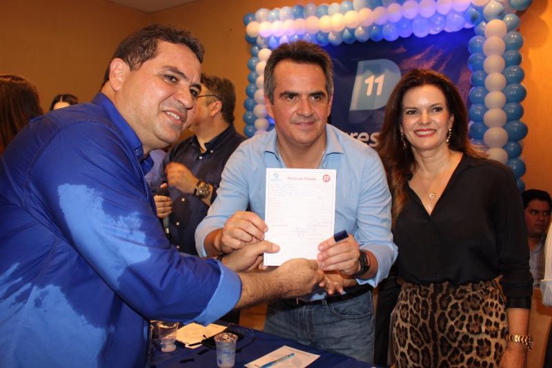 Prefeito de Demerval Lobão Júnior Carvalho se filia ao Partido Progressista