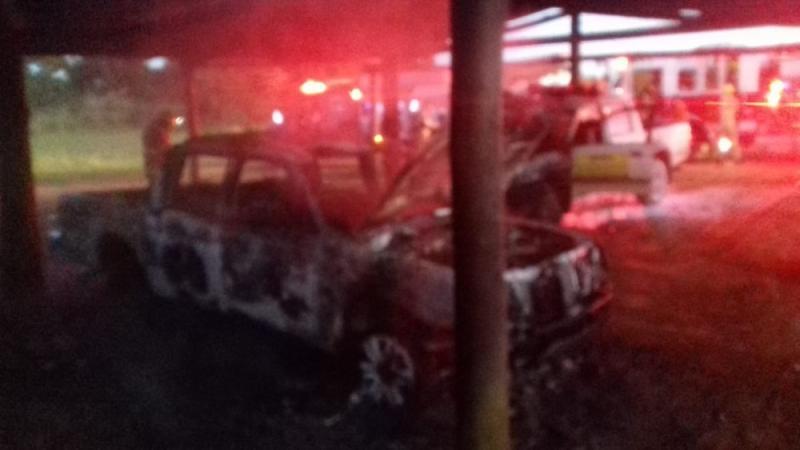 Carros do Ibama pegam fogo na Floresta Nacional