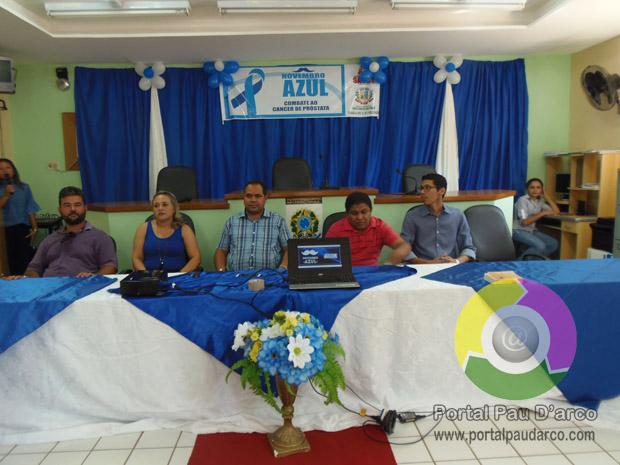 Secretaria de Saúde de Pau D'arco realizou palestra sobre prevenção ao câncer de próstata