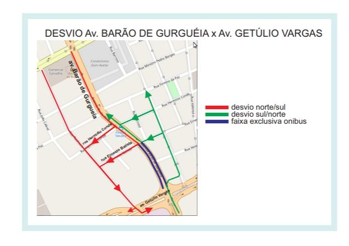 Trânsito na avenida Barão sofrerá desvio neste sábado