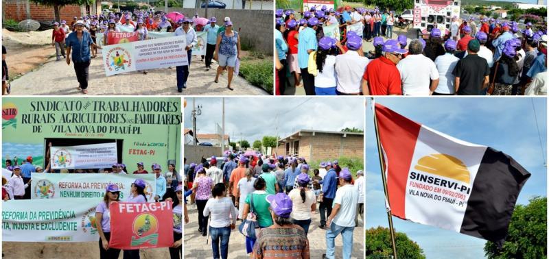 Trabalhadores promovem manifestação contra Reforma da Previdência