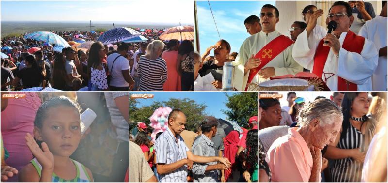 Centenas de católicos participam da Missa da Santa Cruz no Morro dos Três